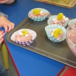 Marshmallow Easter nests