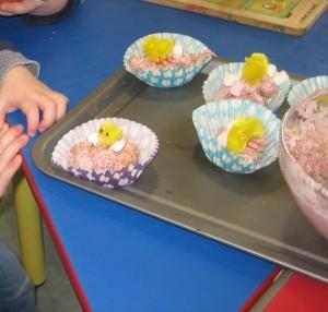 Marshmallow Easter nests