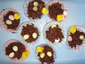 Chocolate Easter nestss!